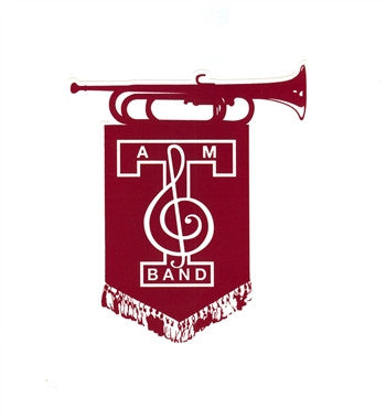 Aggie Band Banner Decal