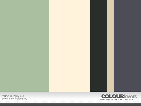 Muse Supply Co color palette
