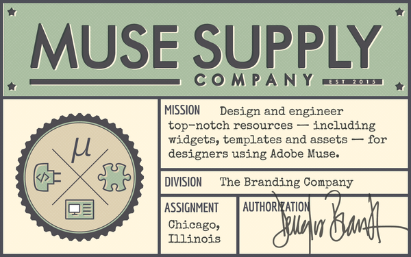 Muse Supply Co : widgets, themes, templates and resources for Adobe Muse.