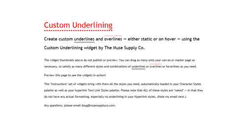 Custom Underlining in Adobe Muse (Preview in Browser)