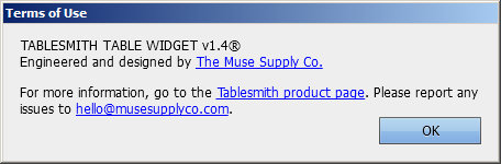 Tablesmith Table Widget