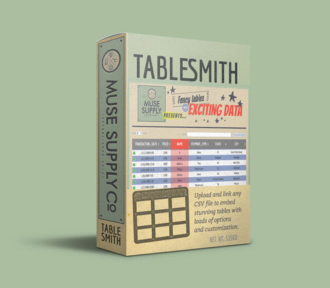 Table maker widget for Adobe Muse