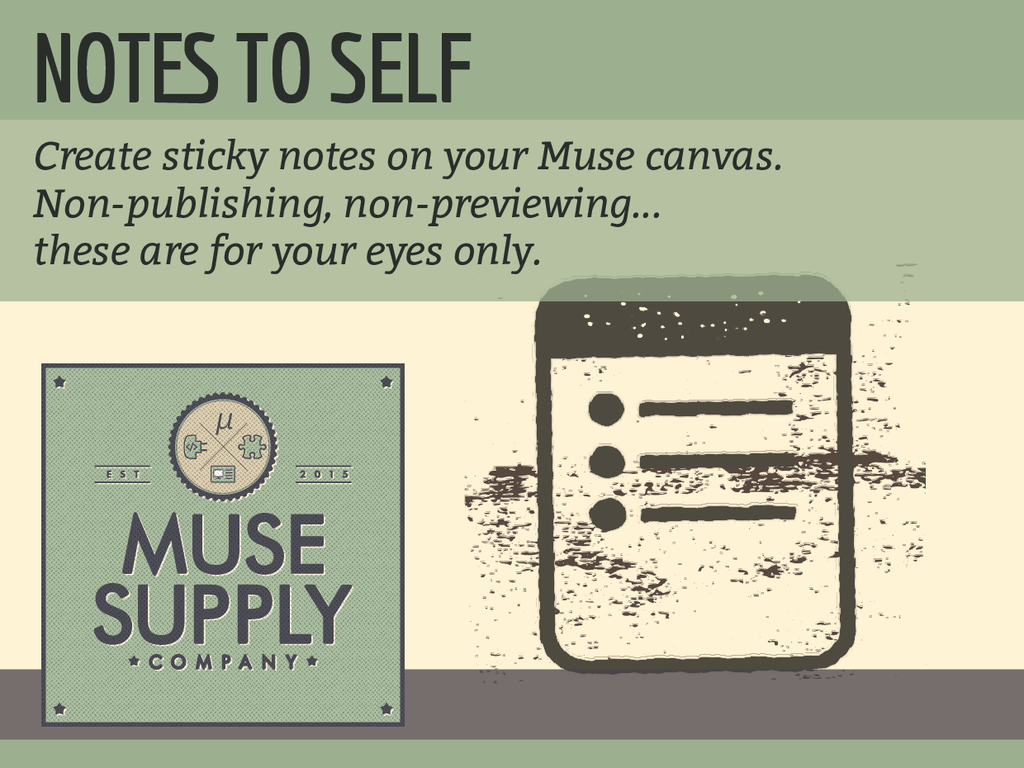 Sticky Notes widget for Adobe Muse