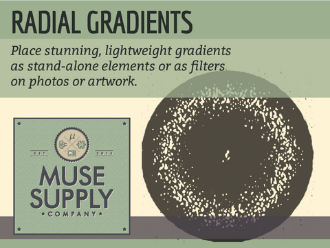 Radial Gradients widget for Adobe Muse