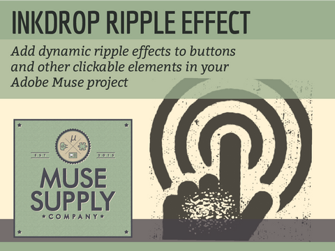 Ripple Effect widget for Adobe Muse