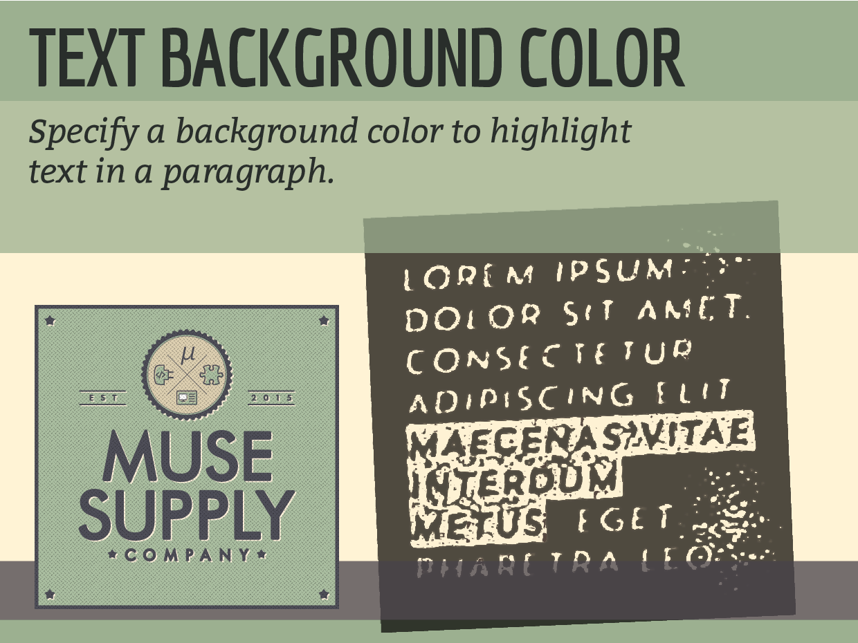 Typography Widgets – Muse Supply Co