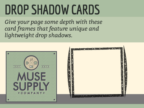Drop Shadow Cards