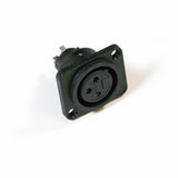 Female XLR Panel Connector - Plastic