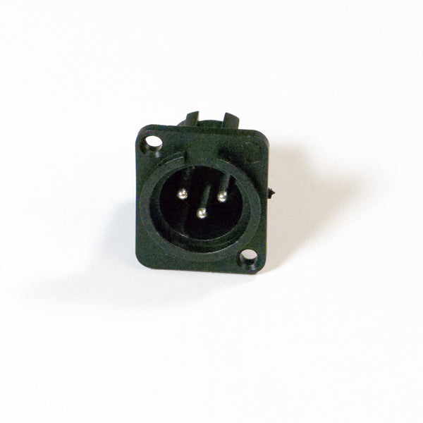 Male XLR Panel Connector - Plastic