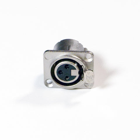 Female XLR Panel Connector - All Metal