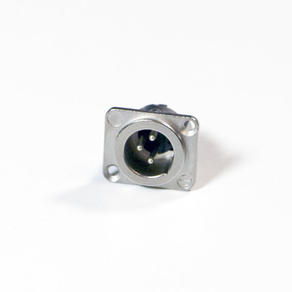 Male XLR Panel Connector - All Metal