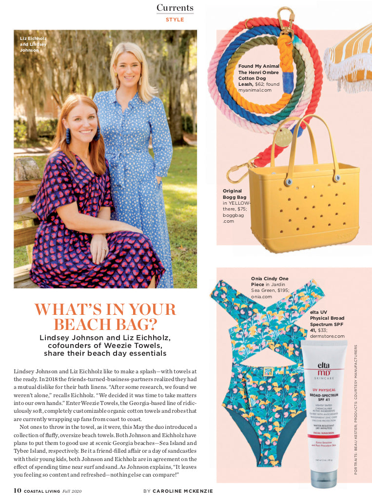 Bogg Bag featured in Coastal Living Fall 2020