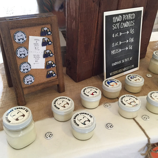 Weird Beard Candle Co pop up shop at Boho Chic Boutique, Waterford NY