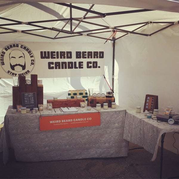 Weird Beard Candle Co booth at the Renegade Brooklyn Pop Up