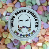 My Weirdo - chocolate covered strawberries valentines day scented soy candle by Weird Beard Candle Co.