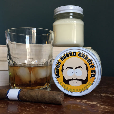 A Nice Old Fashioned whiskey scented soy candle Weird Beard Candle Co