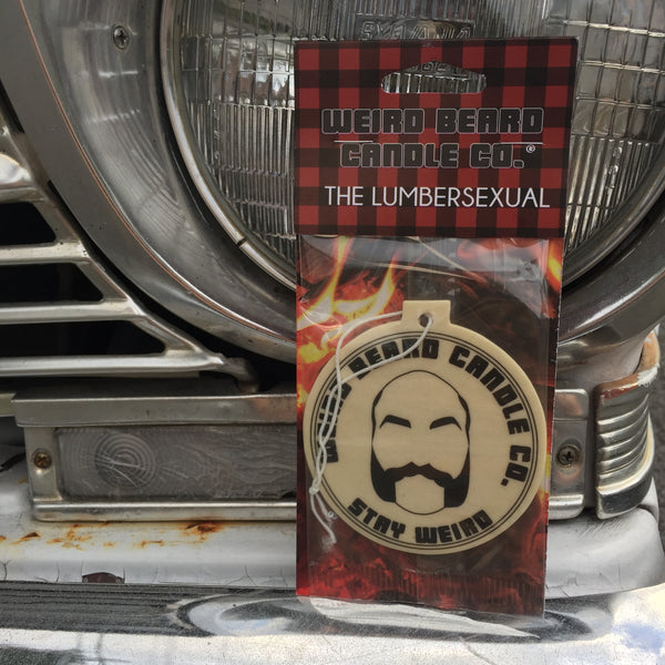 3 pack The Lumbersexual - campfire and wine scented car freshener, all natural