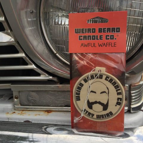 3 pack Awful Waffle - pumpkin pecan waffle scented car freshener, all natural