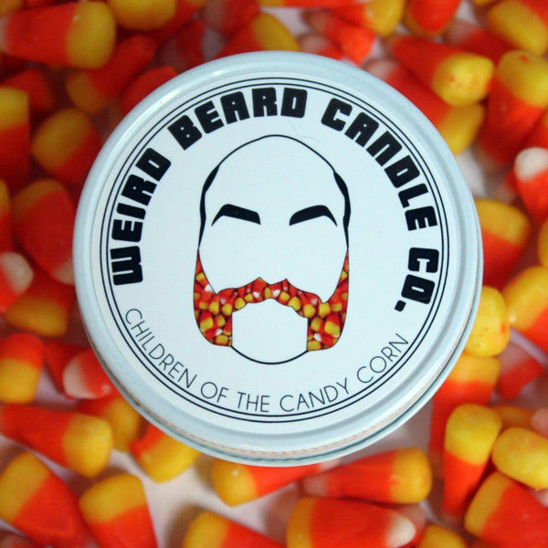Children of the Candy Corn - Vanilla butter cream candy corn Halloween scented soy candle by Weird Beard Candle Co.