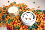 Saturday Morning Cartoons II - capn crunch berries cereal scented soy candle by Weird Beard Candle Co.