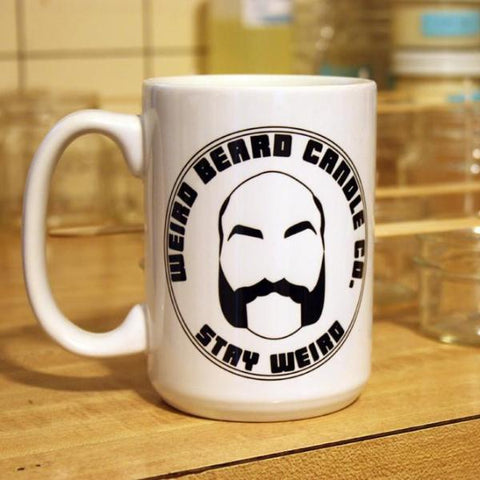 Weird Beard Candle Co. Stay Weird logo 15oz coffee mug by Weird Beard Candle Co.