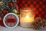 Ugly Christmas Sweater Party 8oz soy candle - peppermint and pine scented