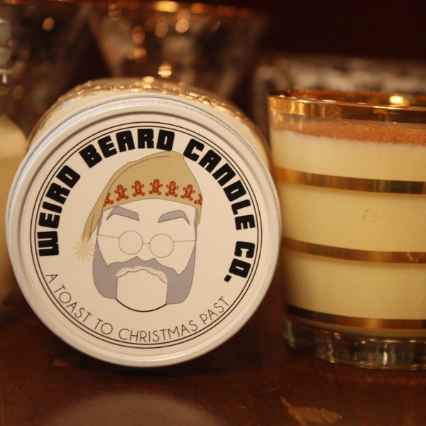A Toast to Christmas Past 8oz soy candle - boozy eggnog scented