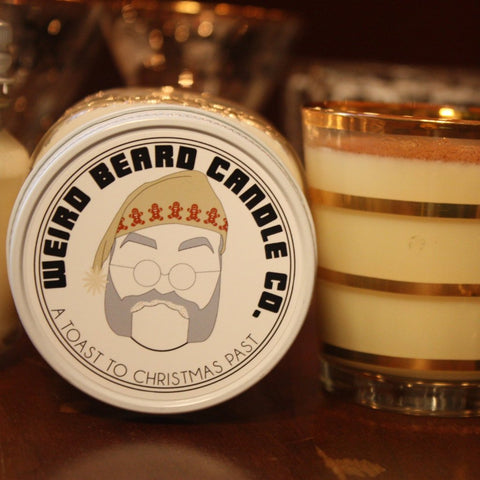 A Toast To Christmas Past boozy gingerbread eggnog holiday soy candle Weird Beard Candle Co