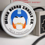 Mega Mandarin citrus retro gamer soy candle Weird Beard Candle Co