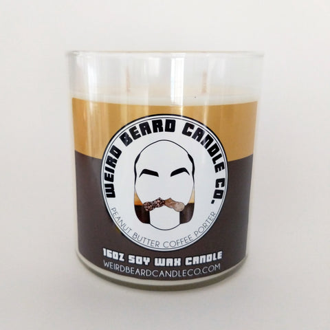 Peanut Butter Coffee Porter beer soy candle Weird Beard Candle Co