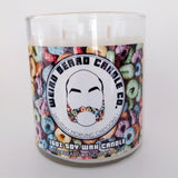 Saturday Morning Cartoons fruity loop cereal scented soy candle Weird Beard Candle Co