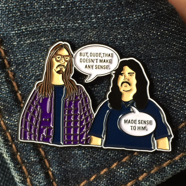 Mark & Mike: Made sense to him soft enamel pin - ON SALE