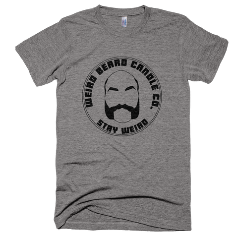 Weird Beard Candle Co Logo T-shirt Athletic Grey