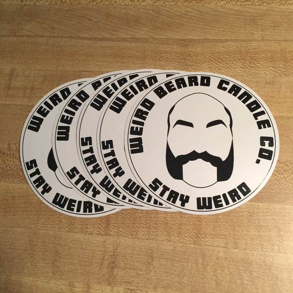 Weird Beard Candle Co logo sticker
