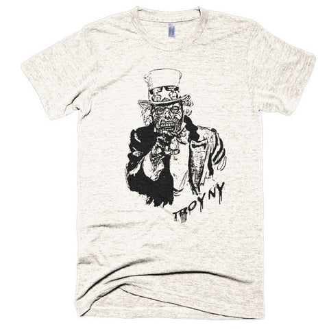 ZOMBIE UNCLE SAM LOGO T-SHIRT by Weird Beard Candle Co.