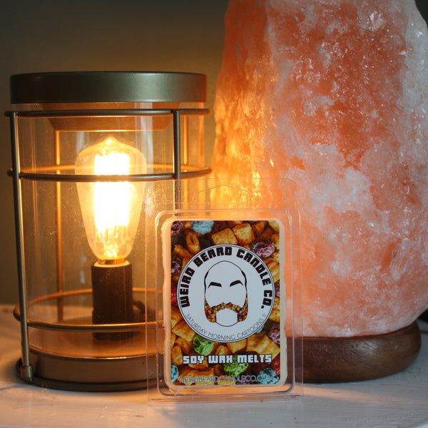 Saturday Morning Cartoons II berry crunch cereal scented soy candle Weird Beard Candle Co