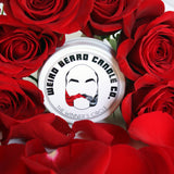 The Winner's Circle - Horse Racing themed leather and rose scented soy candle by Weird Beard Candle Co.