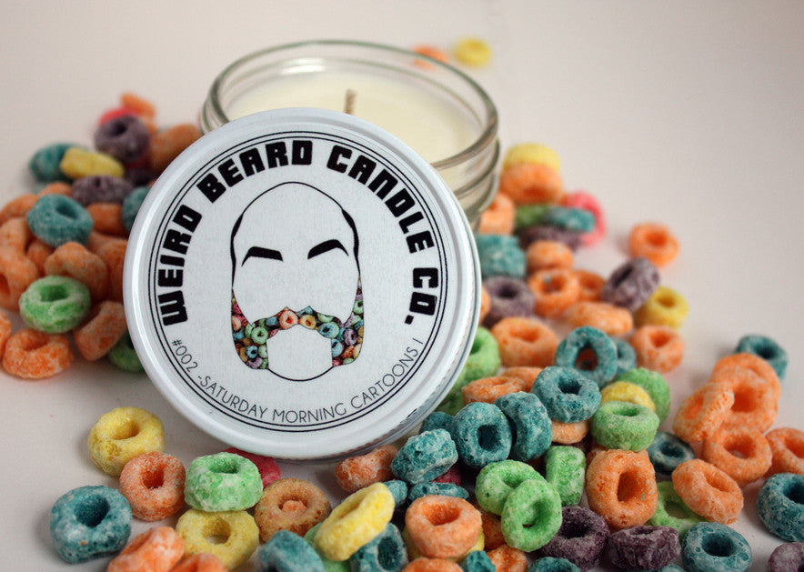 Weird Beard Candle Co - Saturday Morning Cartoons I 8 oz soy candle