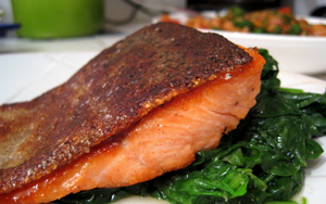 Should you eat salmon skin?