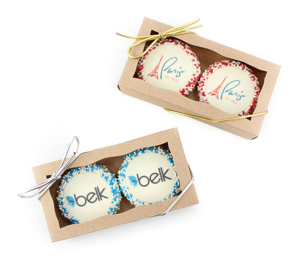 Favor Gift Boxes of 2pc Logo Oreo Cookies - 6 pcs
