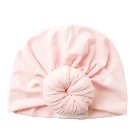 Blush Pink Top Knot Turban Hat