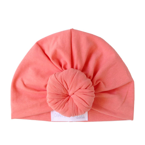 Coral Top knot Bun Turban