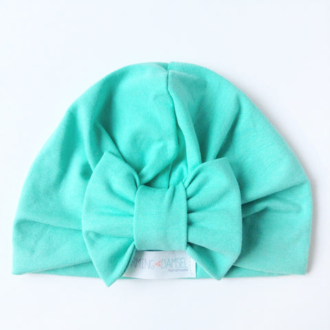 Mint Classic Bow Turban Hat