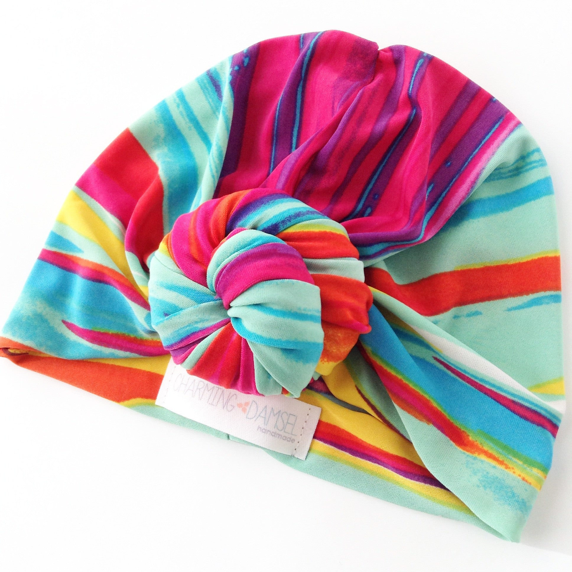 Sunset Sky Top Knot Turban Hat { Water Friendly }