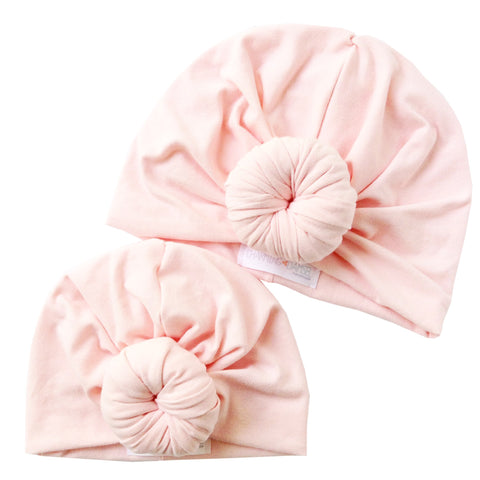 Blush Mommy & Me Top Knot Turban Hat