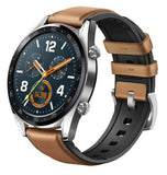 HUAWEI WATCH GT 46MM STEEL/LEATHER SADDLE BROWN
