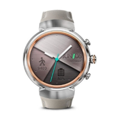 "ASUS ZENWATCH 3 1.39"" SILVER / BEIGE LEATHER BAND"