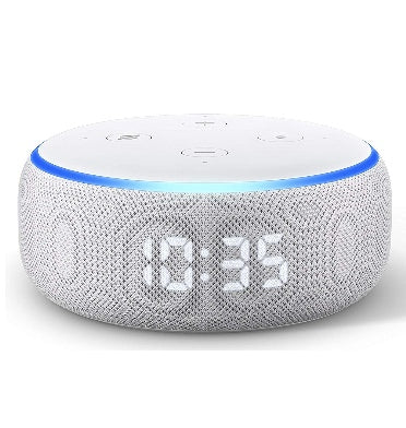 AMAZON ECHO DOT WITH CLOCK (2019) SANDSTONE