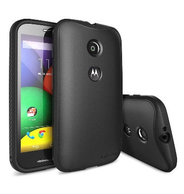 MOTO E PREMIUM FLEX TPU CASE & SCREEN PROTECTOR BLACK | RINGKE