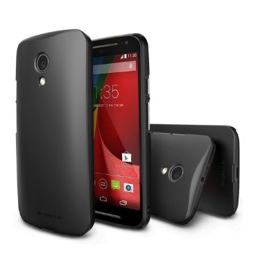 MOTO G 2ND GEN PREMIUM DUAL COATED SLIM CASE BLACK & SCREEN PROTECTOR | RINGKE